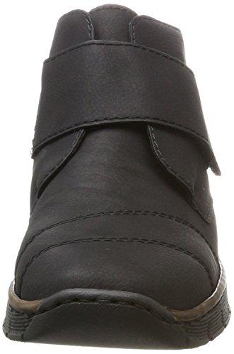 Noir Femme 537h3 schwarz schwarz Bottes Rieker xSpF1