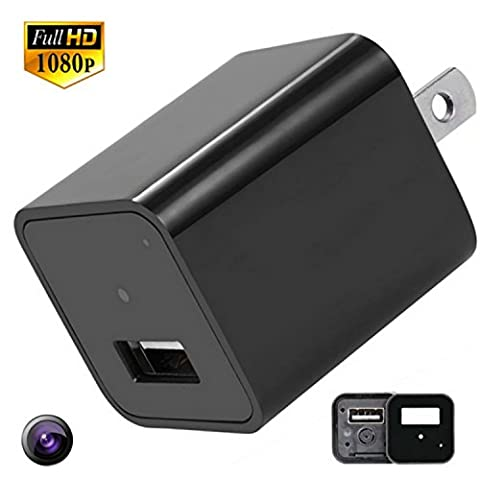 Motion Activated Home Security Camera USB Charger Records 1080p with 32GB Internal Memory No SD Card Needed for HD Hidden Camera Nanny Cam House - Dvr Recorder Software