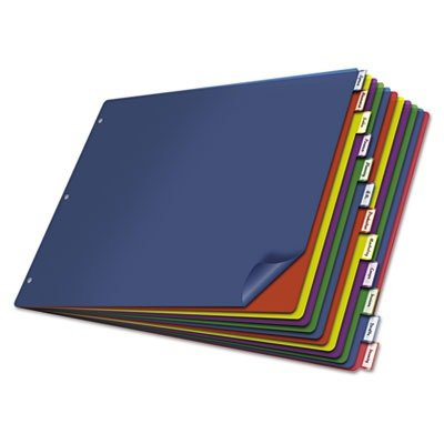 Cardinal Poly Insertable Dividers, 12-Tab, 11 x 17 Inches, Multi-Color (84804) (X 12 Divider Divider)