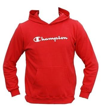 f7fab4b3405c Boys Champion Hoody Top Hooded Jumper Tracksuit Sweatshirt Red Size L   Amazon.co.uk  Clothing