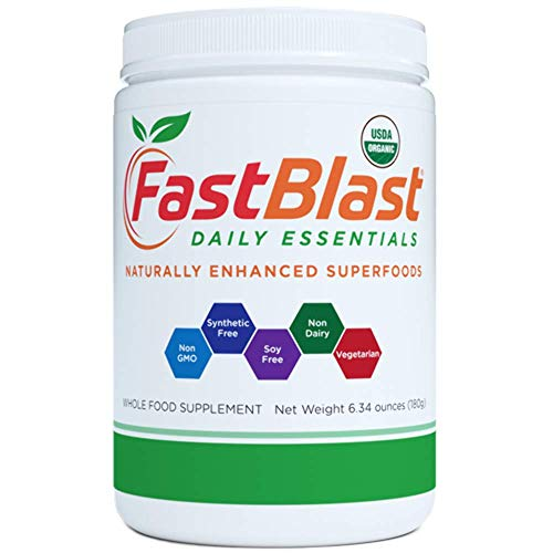 FastBlast Daily Essentials - Supercharge your Life with Naturally Enhanced Superfoods, Easy-to-Use Supplements that Help Restore Daily Consumption of Essential Alkalizing Greens, Fruits and Vegetables