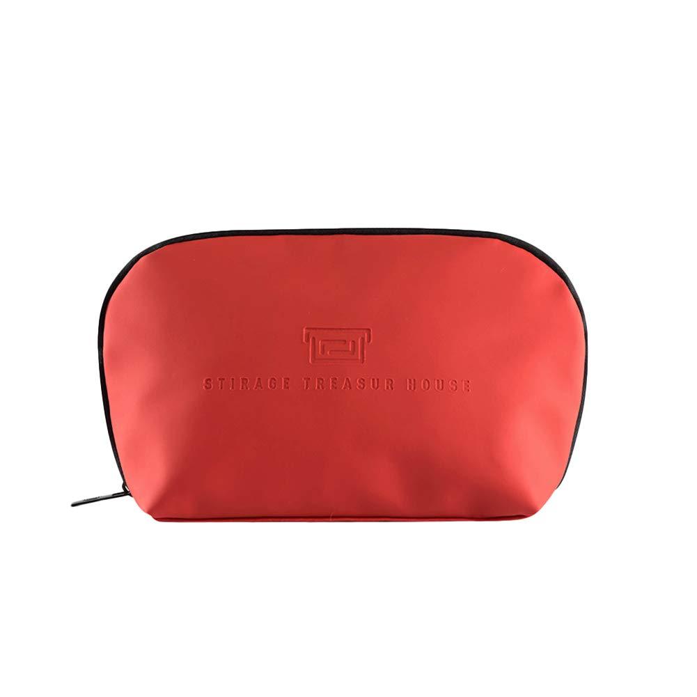 Demarkt 1pcs Étanche Trousse de Maquillage Toiletry Bag Sac à Main Multicolore Trousse de Toilette Femme Blanc 24 * 14 * 7cm