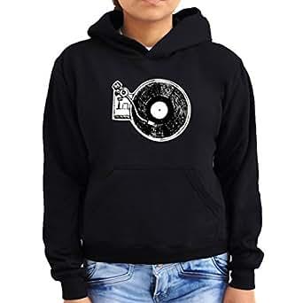 Music Vinyl Turntable Mixer Women Hoodie