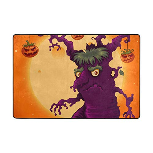 Top Carpenter Spooky Halloween Tree Area Rug Carpet for Living Room Bedroom 6'x4' Light Weight Polyester Fabric -