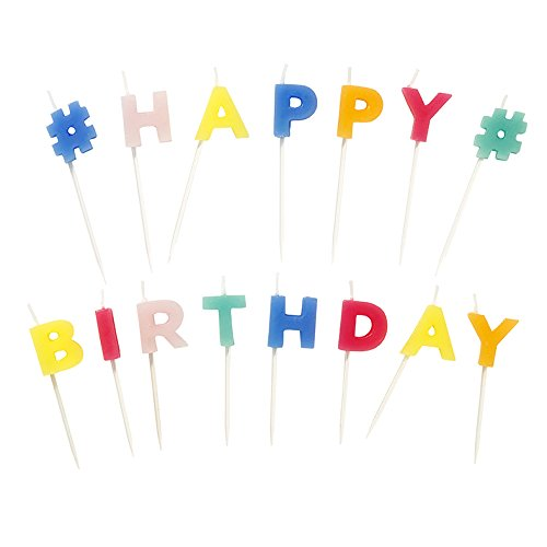 Talking Tables Party Time Happy Birthday Shaped Candles 15 Letters, Multicolor]()