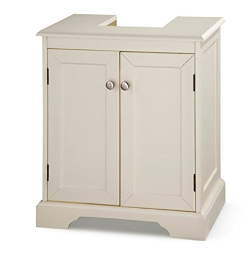Weatherby Bathroom Pedestal Sink Storage Cabinet - Cream by Palos Designs