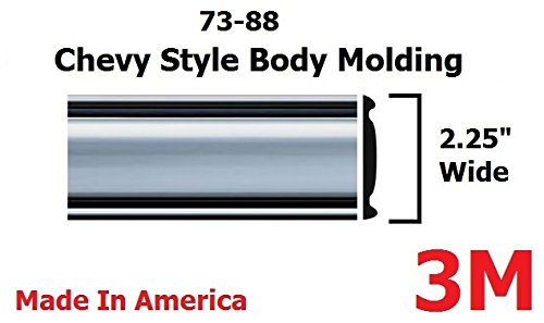Custom Pickup Parts - 1973-1987 Chevy GMC Chrome Side Body Trim Molding (80