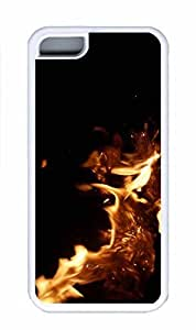 iPhone 6 Case, Personalized Custom Protective White Case Cover for iphone 6 - Firepit