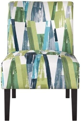 Modern Style No Armrest Upholstered Chair Simple Household Fabric Accent Chair Suitable for Bedroom and Living Room