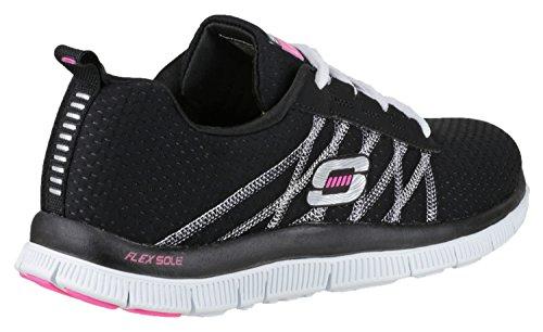 Zapatillas de deporte con cordones Skechers SK11885para señora Flex Appeal negro/blanco
