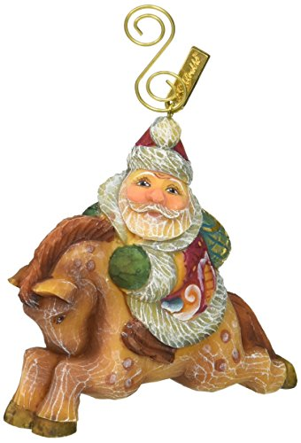 G. Debrekht Santa on Pony Figurine Ornament for sale  Delivered anywhere in USA