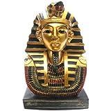 Newquay-Bonsai Decorative Gold Egyptian Tutankhamen Bust Ancient Egypt Ornament Gifts PDS
