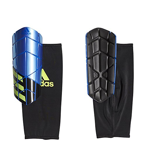 - adidas Performance X Pro Shin Guards, Football Blue/Black/Solar Yellow, Large