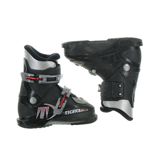 - Used Tecnica RJ Black Front Entry Ski Boot Kid's 4.5 - Mondo 22.5