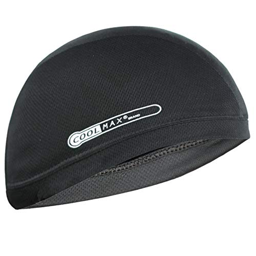 Black Coolmax Cooling Skull Cap, One Size Fits Most