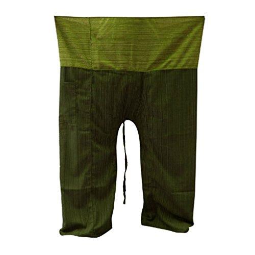 Yoga Pescador Tonos Algodón 2 1101 Tamaño Pantalones Libre Tailandeses RY4d5qw