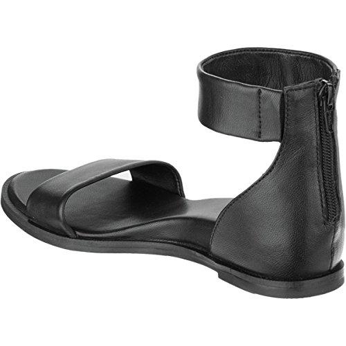 Seychellen Schoeisel Verheven Sandaal - Dames Zwart Leder