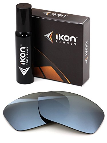 Polarized Ikon Iridium Replacement Lenses for Oakley Turbine Sunglasses - Silver Chrome - Glasses Replacement For Lens