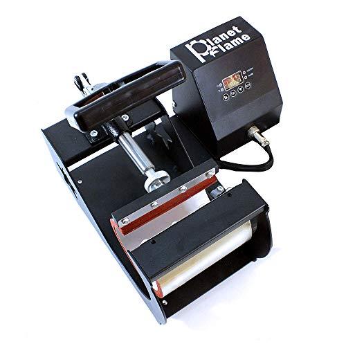 - PlanetFlame Industrial-Quality CE 6-11oz Mug Heat Press Machine, Professional Digital Display Sublimation Printing Machine Heat Transfer Presses for Coffee Mug Cup (Black, 11oz)