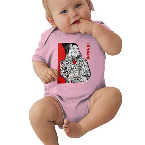 EmmanuelHarrod Lil Wayne Unisex Infant Baby Sport Jersey Bodysuits 0-24 Months 0-3M Pink (Lil Wayne Shirt Pink)