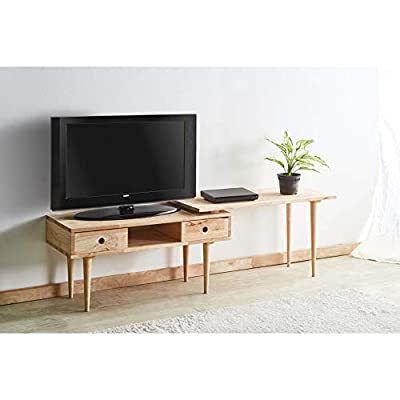 Benzara Elegant Coffee Table & Extension Top, Natural - Includes: one Coffee table only Condition: New Open storage: 1 compartment - living-room-furniture, living-room, coffee-tables - 41kNcjdCuJL. SS400  -