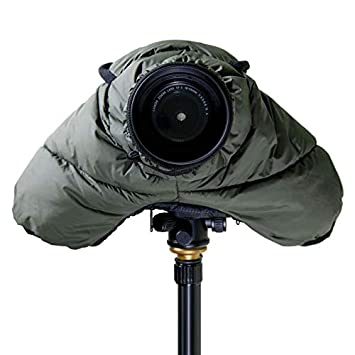 CamRebel Water-Resistant Rain Cover Protector for DSLR Cameras for Outdoor Shooting Army Green for Small Cameras