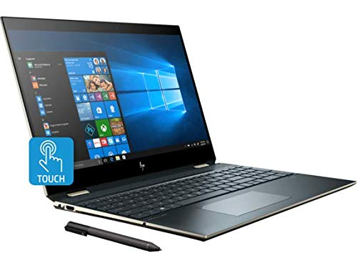 "HP Spectre x360 Laptop (Intel i7-9750H 6-Core, 16GB RAM, 2TB PCIe SSD, NVIDIA GTX 1650 [Max-Q], 15.6"" Touch 4K UHD (3840x2160), Active Pen, Fingerprint, WiFi, Bluetooth, Webcam, Win 10 Pro)"