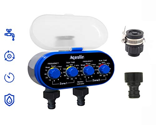 Aqualin Two Outlet Automatic Garden Drip Irrigation Water Timer | with Universal Tap Adapter (B07VTM1S3V) Amazon Price History, Amazon Price Tracker
