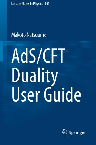 AdS/CFT Duality User Guide (Lecture Notes In Physics)
