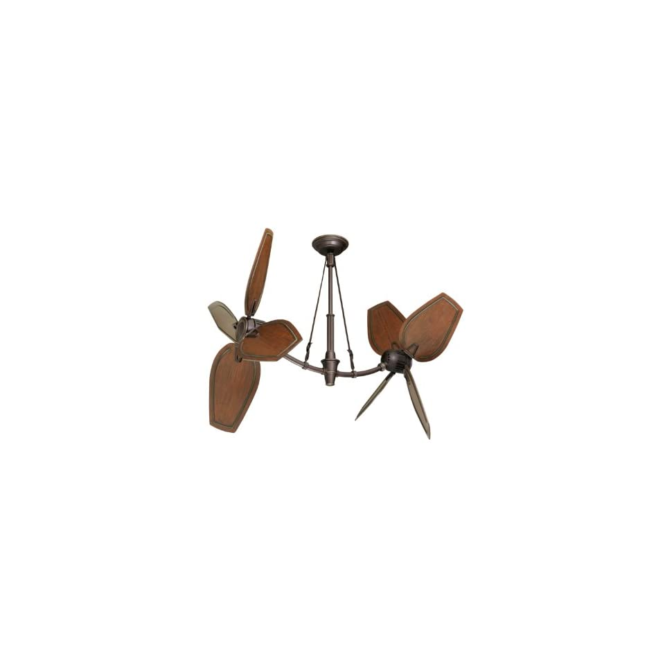 Emerson CF3300ORH St. Croix Indoor/Outdoor Ceiling Fan Oil Rubbed Bronze Finish with Highlights and B80HCW Paddle Blades