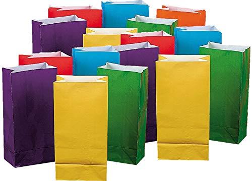 Fun Express Bright Color Paper Bags (3 Dozen)
