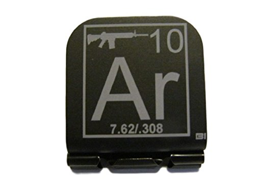 AR-10 Periodic Table Of Elements Tile Laser Etched Hat Clip Brim-it
