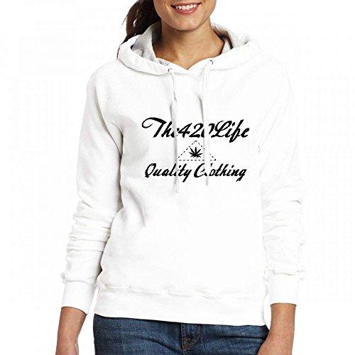 The420life Vêtements De Qualité Personnalisables Des Femmes Personnalisées Hoodies Blanc