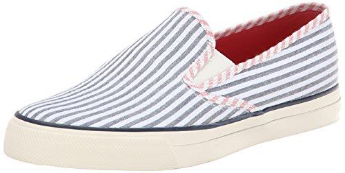 Damen Top Sneaker Bootschuhe Mariner Seersucker Sider Navy Sperry Navywhitegetreift Segelschuhe ZUxAqA