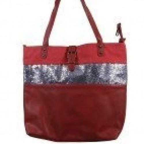 8c98167033 Shopping-et-Mode - Grand sac à main rouge bordeaux simili-cuir avec ...
