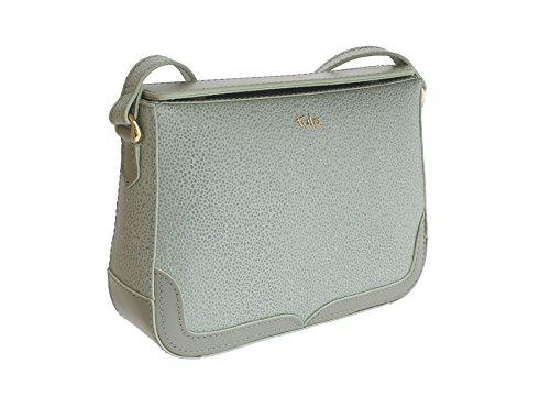 Tula Rye Leather - Sac d'épaule à double rabat grainé pour femme - 8437 Birch