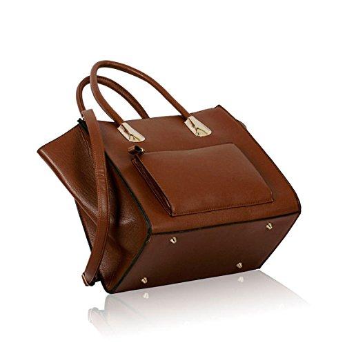 Xardi London, Borsa a spalla donna large Brown