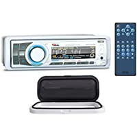 Boss MR752UAB 1-Din Marine Bluetooth Receiver MP3/CD AM/FM+Remote+Splash Guard