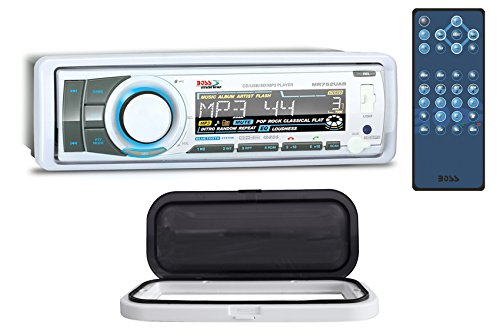 Boss MR752UAB 1-Din Marine Bluetooth Receiver MP3/CD AM/FM+Remote+Splash Guard (Proof Unit)