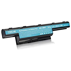 Tree.NB High Performance Li-ion Cell Laptop Battery for Acer AS10D31 AS10D51, Acer Aspire 5253 5251 5336 5349 5551 5552 5560 5733Z / Acer TravelMate 5740 5735Z 5740G / Gateway NV55C NV50A NV53A NV59C from Tree.NB