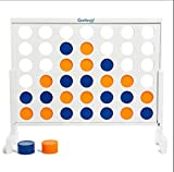 """Giant 4-In-A-Row Board Game - GetMovin' Sports Life Size Classic Jumbo Family Playset - Fun For Adults and Kids - Perfect For All Outdoor, Lawn, Yard, and Party Get Togethers (36"""" X 32"""")"""