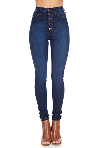 Vibrant Womens Juniors Button Skinnys product image