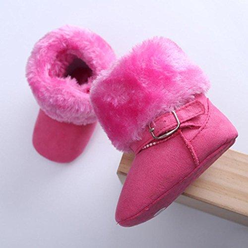 Zapatos Para Bebé,Xinantime Primeros Pasos Algodón de Arranque (17, Rosa Caliente) Rosa Caliente