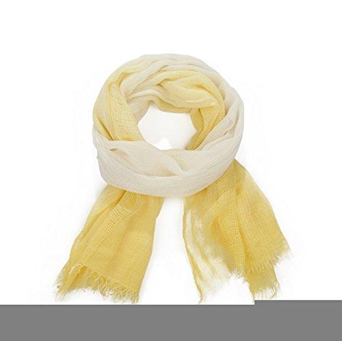 Lefox Gypsy Frayed cotton Scarf Headband yellow#JWW03 (Gypsy Head Scarf)
