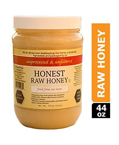 Honest Raw Honey, Pure Natural American Honey, 44 Ounce ()