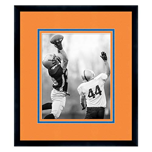 Wood Virginia University - Sports Frames University of Virginia Black Wood Frame with Cavaliers Triple Mat Colors - Made to Display 16