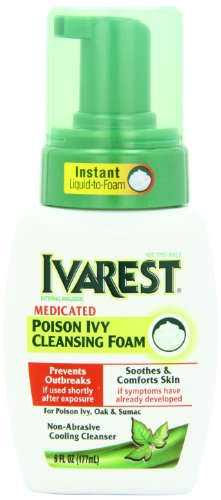 Ivarest Medicated Poison Ivy Cleansing Foam, 6 Ounce