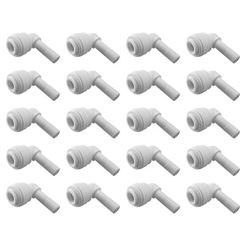 Express Water 20-Pack Stem Elbow 1/4'' x 1/4'' Inch Quick Connect QC Reverse Osmosis RO System Fitting Parts by Express Water