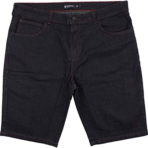 Bermuda Element Jeans Rough Extra Grande - Preto-50