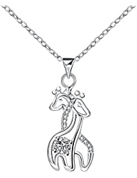 Necklace for Girls Ladies Mom Swarovski Crystal Diamond Necklace Pendants for Necklace Women Necklaces for Mom Girlfriend Women Teen Girls